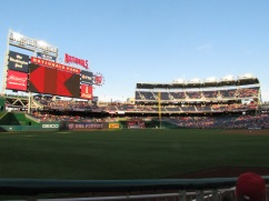 View from our seats in section 108