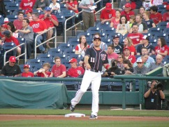 Ryan Zimmerman warming up