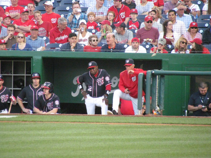 Dusty Baker in the Nats dugout