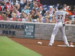 Giancarlo Stanton in the on deck circle