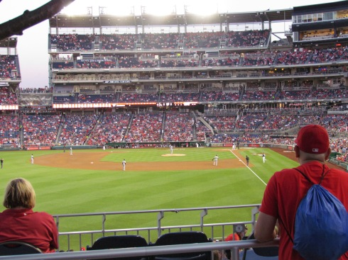 View from the concourse in left field