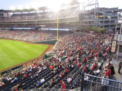 Left field seating at Nats Park