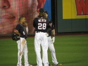 Ben Revere looks quite short next to Werth and Harper