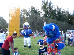 Me with Bills mascot