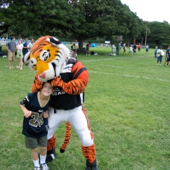 Me with Bengal mascot