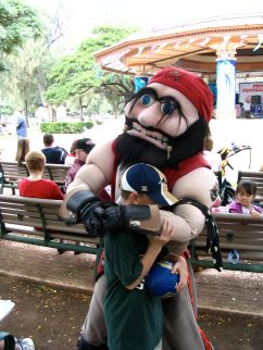 Me with Buccaneer mascot