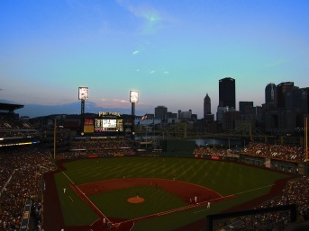 PNC Park in *Paul coughs* Pittsburg