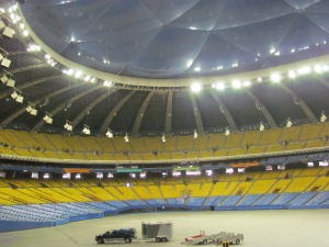 Inside Olympic Stadium