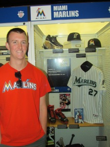 Me at the Marlins locker