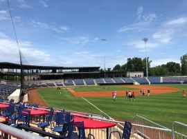 View from terrace seating in right field
