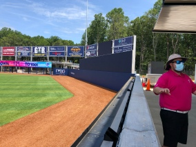 Outfield wall and batters eye