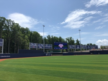 Outfield with batters eye and jumbotron